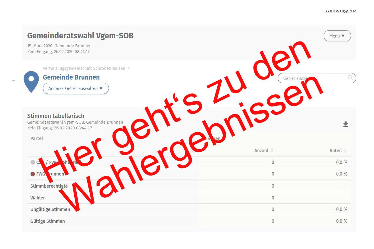 Wahlergebnis GR-Wahl Brunnen - Teaserbild